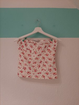 Clockhouse Bandeau Top white-raspberry-red