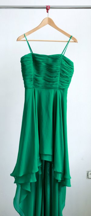 High Low Dress green polyester