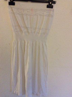 Trägerloses, weißes Sommerkleid Größe 36, neuwertig