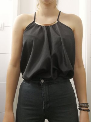 Amisu Camisola negro-color oro
