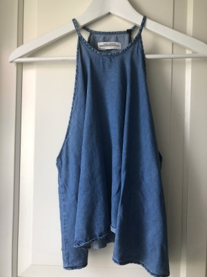 Zara Strappy Top blue-steel blue