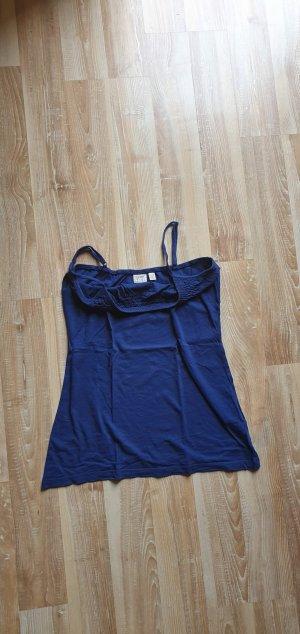 Esprit Haut à fines bretelles bleu coton