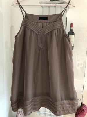 Vero Moda Top largo marrón grisáceo