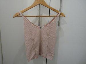 H&M Divided Top básico rosa claro tejido mezclado