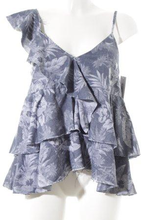 Trägertop dunkelblau-wollweiß Street-Fashion-Look