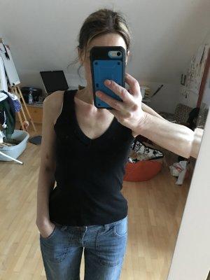 s.Oliver V-hals shirt zwart