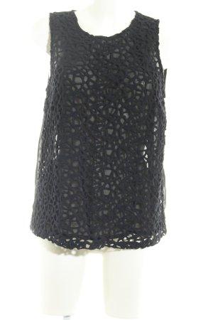 Trägertop schwarz abstraktes Muster Boho-Look