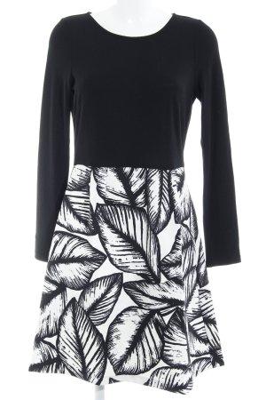 Traffic people A-Linien Kleid schwarz-weiß abstraktes Muster Elegant