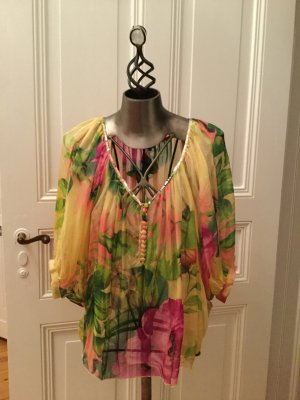 Traffic people Blusa taglie forti multicolore Seta