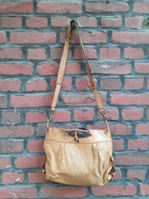 aunts & uncles Crossbody bag camel-sand brown leather