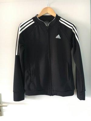 Adidas Giacca sport nero-bianco Poliestere