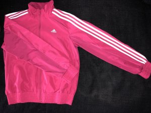 Adidas Sportjack framboosrood-wit
