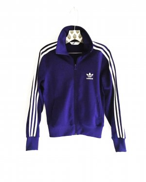 trainingsjacke / adidas originals / purple / lila / weiss