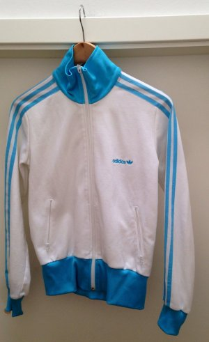 Adidas Shirt Jacket white-light blue