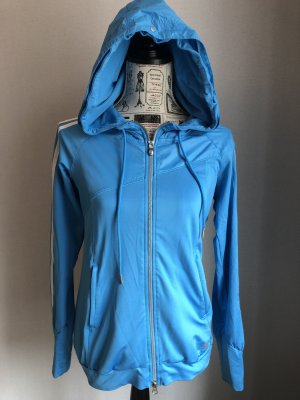 Adidas Sportjack neon blauw