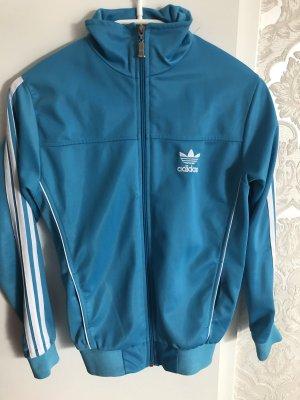 Adidas Giacca fitness blu neon