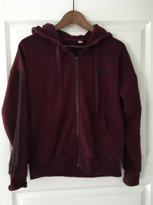 Adidas Veste sweat brun rouge