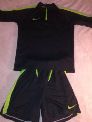 Nike Camisa deportiva negro-verde
