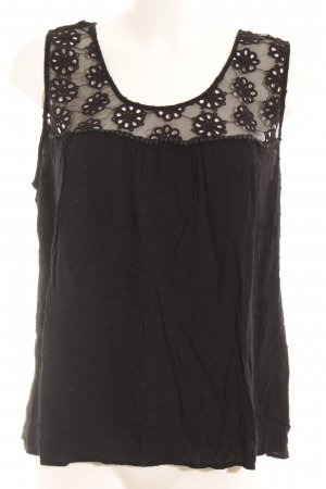 Tramontana ärmellose Bluse schwarz Casual-Look