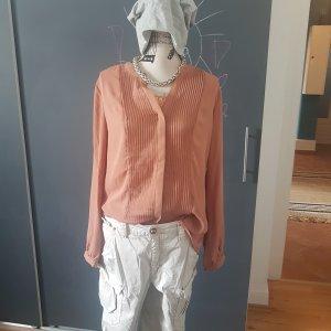 Tramontana Bluse XL Lachs Plissee Frühling Tunika