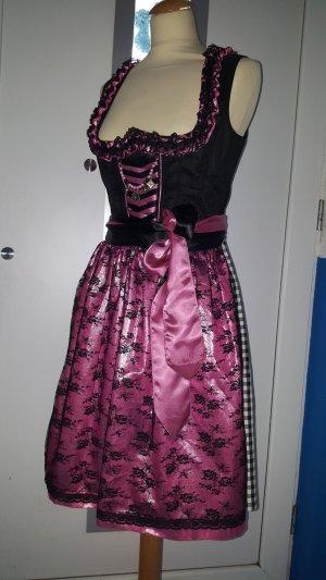 Tramontana Dirndl Gr. 38 schwarz pink neuwertig Schürze Charivari