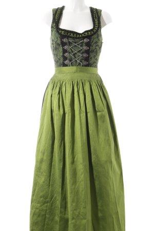 Tramontana Dirndl schwarz-grün Blumenmuster Elegant