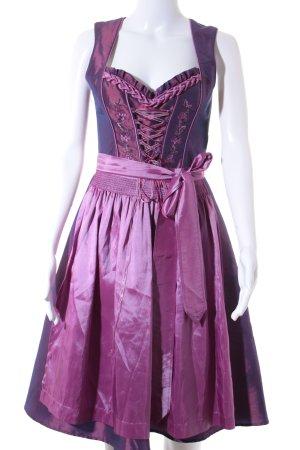 Tramontana Dirndl violett-pink Glanz-Optik