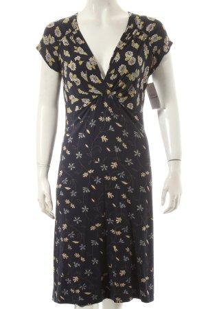Tramontana Jerseykleid dunkelblau Blumenmuster Romantik-Look