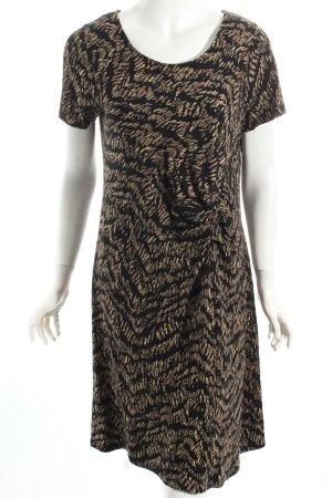 Tramontana Jerseykleid schwarz-hellbraun abstraktes Muster Vintage-Look