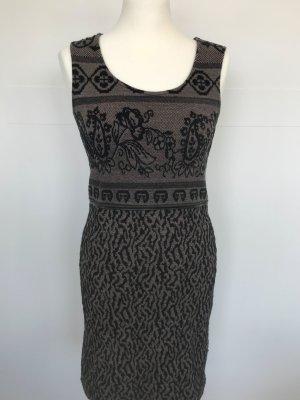 Tramontana Kleid Strick-Stretch mit Ornament-Muster braun schwarz