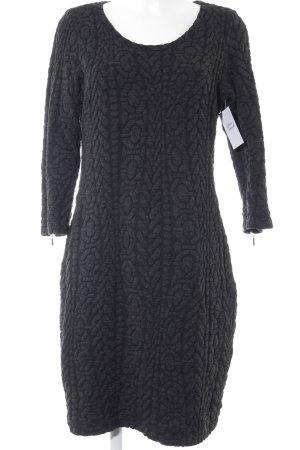 Tramontana Langarmkleid dunkelgrau-schwarz abstraktes Muster Casual-Look