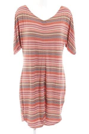 Tramontana Shirtkleid hellrot-hellgrün Streifenmuster klassischer Stil