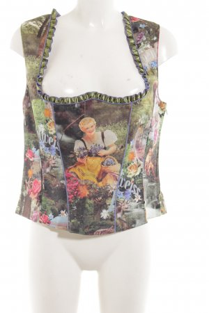 Tramontana Trachtenbluse Allover-Druck Party-Look