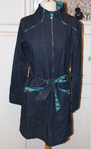 Tranquillo Between-Seasons-Coat dark blue cotton