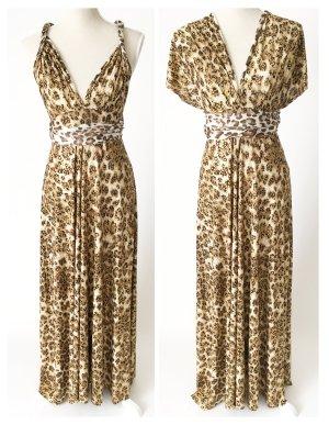 Transformer Maxikleid Kleid Abendkleid Onesize 36 38 40 42 44 leo animalprint gepunktet gold mehr als 10 Varianten möglich zu tragen!!!