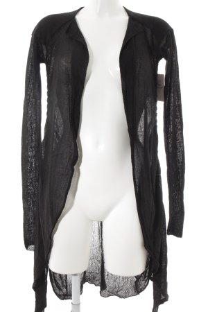 Transit Cardigan schwarz schlichter Stil