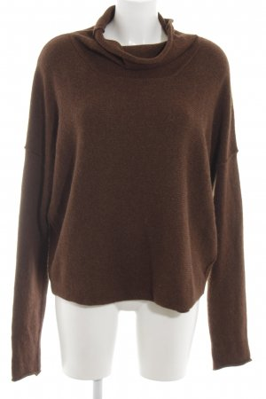 Transit Oversized Sweater brown weave pattern casual look