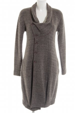 TRANSIT PAR-SUCH Wool Coat light grey flecked casual look
