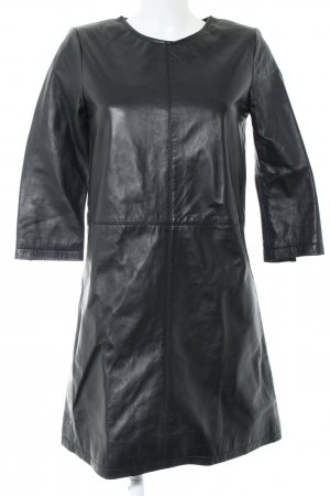 Transmission Leather Dress black casual look