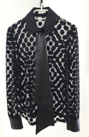 Alba Moda Transparent Blouse black