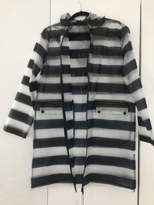 Manteau de pluie gris anthracite-gris clair