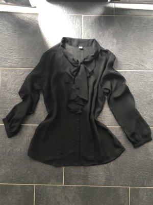 Transparent schwarze Bluse von S.Oliver
