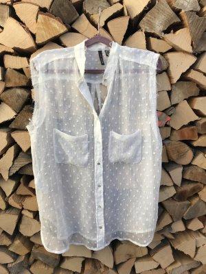 transparente, ärmellose Bluse von Mango
