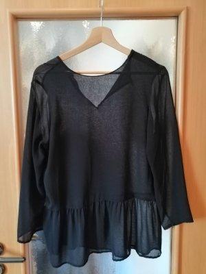 Zara Blusa transparente negro