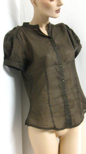 Short Sleeved Blouse dark brown