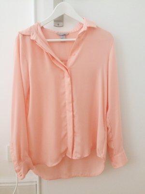 Transparente Bluse in Apricot
