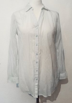 Transparente Bluse in einem zarten Minzton