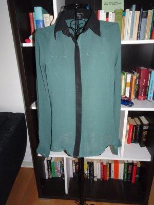 Transparente Bluse in grün