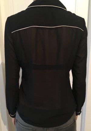 Transparente Bluse in schwarz