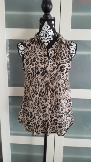 Transparente Bluse Leopardenmuster H&M 34